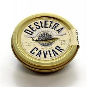 Desietra Superior kawior Malossol - Osietra kawior z jesiotra, z hodowli firmy Desietra, 50 g
