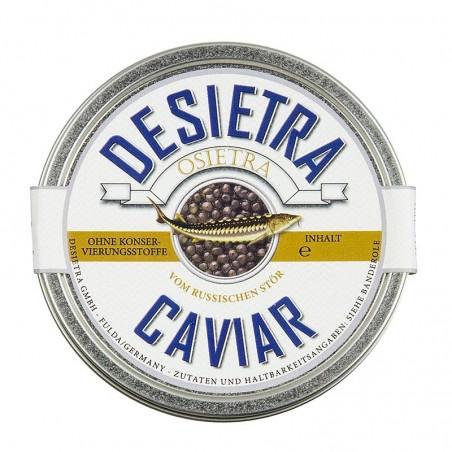 Desietra Superior kawior Malossol - Osietra z hodowli firmy Desietra, bez konserwantów, 125 g