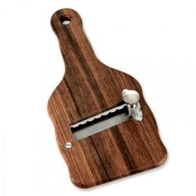 Hebel - nóż do trufli, drewniany, faliste ostrze