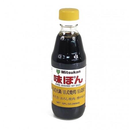 Sos sojowy - Ponzu Ajipon o smaku cytrynowym, Mitsukan Japonia 360 ml