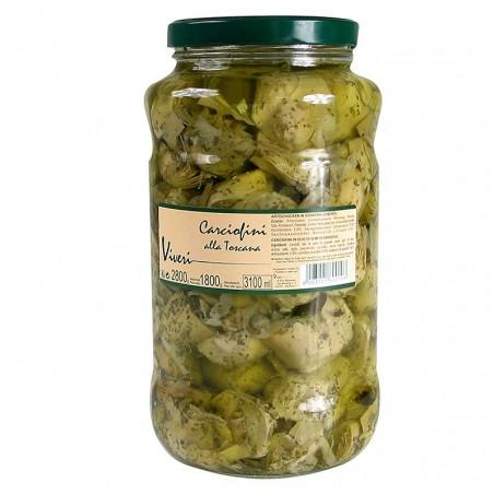 Marynowane, karczochy z ziołami, po porciowane na 4 części - alla Toscana, 2,8 kg