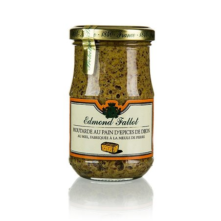 Musztarda Dijon z piernikiem i miodem, gruboziarnista Fallot, 190ml