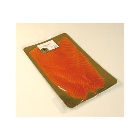 Irlandzki łosoś, wędzony, cała strona, pocięty w plastry, ok. 1 kg