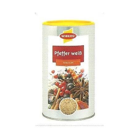 PIEPRZ BIAŁY, mielony, produkt z certyfikatem BIO, 600 g, Wiberg
