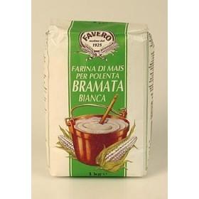 Polenta Bramata Bianca, biała i gruba, Favero, 1 kg