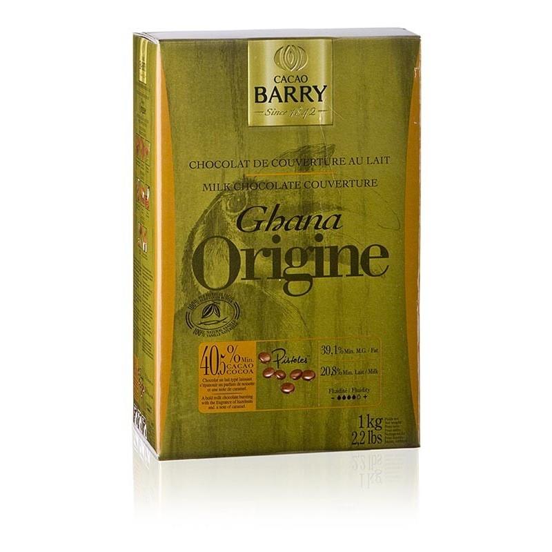 Original Ghana, czekolada pełnomleczna, callets 40,5% kakao, 1kg