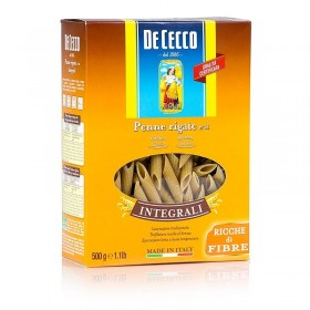 De Cecco, makaron pełnoziarnisty Penne Rigate, Nr. 41, 500 g