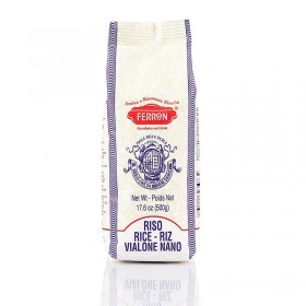 Ryż Vialone Nano, do risotto, zaokrąglone ziarna, Ferron, 500g