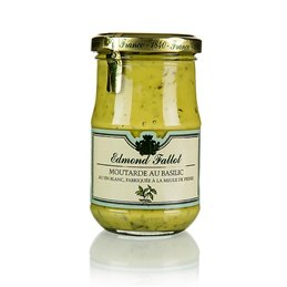 Musztarda Dijon z bazylią, Fallot, 190 ml