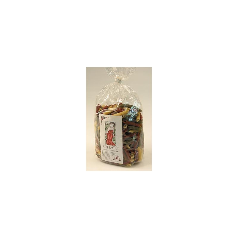 Capricci, makaron Penne rigate 3 kolory, 500 g
